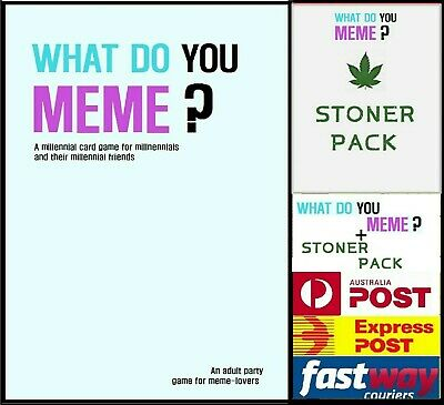 AU24.95 • Buy What Do You Meme Main Base Party Game +stoner Expansion Fast Delivery