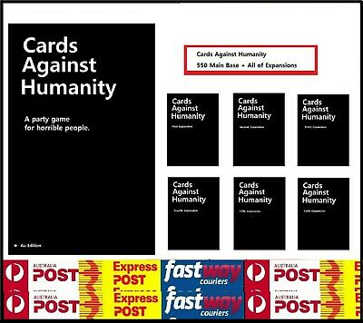 AU38.95 • Buy Cards Against Humanity Main Set + All Expansion 1,2,3,4,5,6 Fast Delivery