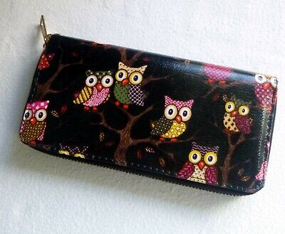 Men Wallet With Owls Pre Owned • 7£