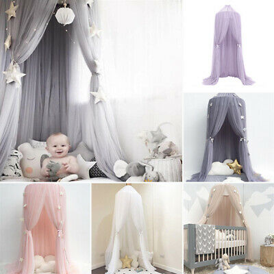 £69.33 • Buy Baby Kids Canopy Bedcover Mosquito Net Bed Curtain Bedding Dome Tent Cotton UK