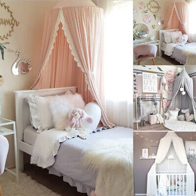 £72.98 • Buy Canopy Bedcover Baby Kids Mosquito Net Bed Curtain Bedding Dome Tent Cotton UK