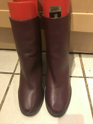 £10 • Buy Red Herring Wine High Heeled Ankle Boots Size 8(41)