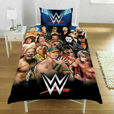 £21.99 • Buy Reversible Luxury WWE  Printed Single Duvet Cover Bedding Sets With Pillowcase