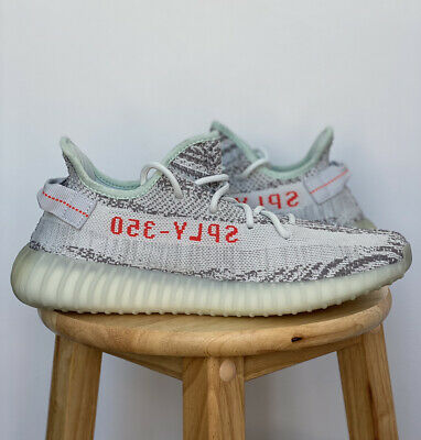$ CDN619.99 • Buy Adidas Yeezy Boost 350 V2 Blue Tint Grey Red B37571 Size 10 Brand New