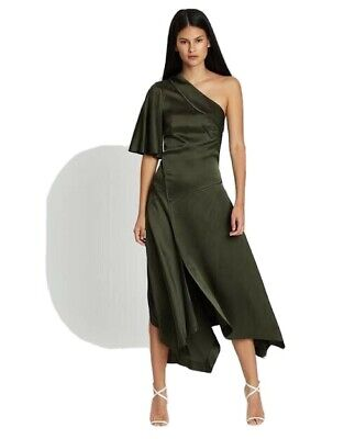 AU240 • Buy Sass And Bide Motto Dress - Olive - Size 10 / 40 - BNWT