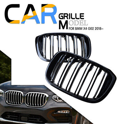 AU103.15 • Buy For BMW X3 G01 X4 G02 Front Hood Kidney Grill Grille 2018-2021 Black Dual Slat