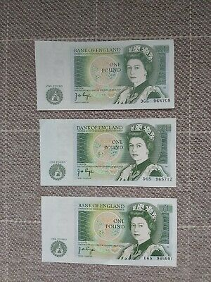 3 X 1978 Pound Notes Mint Condition  • 3.99£