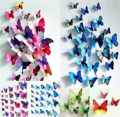 AU3.89 • Buy 12pc 3D Butterfly Magnet Window Wall Sticker Decal Fridge Room Home Party Decor