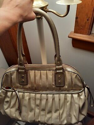AU45.87 • Buy MZ Wallace Beige Large Handbag Shoulder Bag Purse