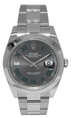 $ CDN12394.30 • Buy NEW Rolex Datejust 41 Steel Wimbledon Dial Oyster Watch Box/Papers 126300