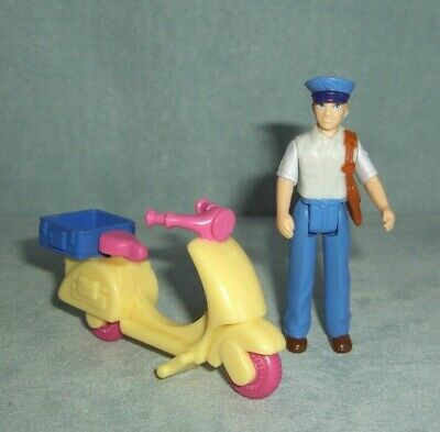$6.98 • Buy Fisher Price Sweet Streets Dollhouse Post Office Mail Man & Scooter