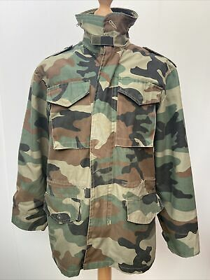 $48.71 • Buy Vintage M65 Field Jacket Camo Camouflage Army Military Coat With Stowable Hood