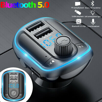 AU17.99 • Buy Handsfree FM Transmitter Wireless Bluetooth Car Kit MP3 Adapter Charger Dual USB