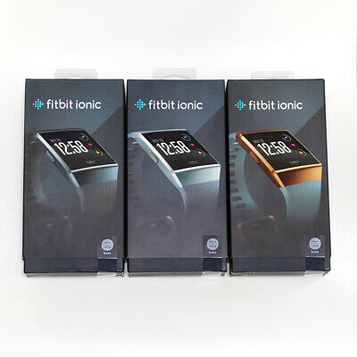 $ CDN138.01 • Buy New Fitbit Ionic Smartwatch Built-in GPS Activity Tracker S&L Bands Sealed Box