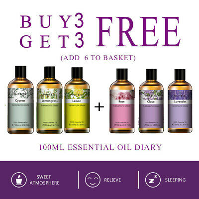 AU25.89 • Buy 100ml Essential Oils 100% Pure & Natural (Aromatherapy) Organic Essential Oil