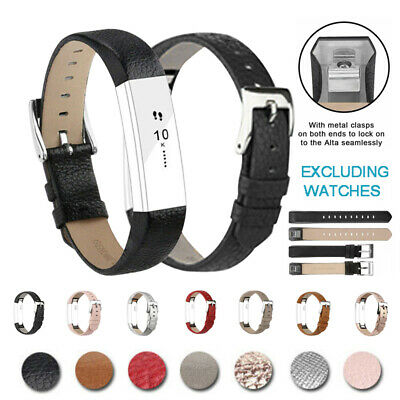 AU7.89 • Buy Replacement Wrist Watch Band Bracelet Genuine Leather Strap For Fitbit HR / Alta
