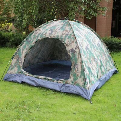 AU14.29 • Buy 1 -3 Person Instant Pop-Up Camping Tent Camouflage Waterproof For Family Hikin