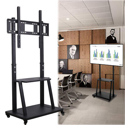£147.95 • Buy Mobile TV Cart Floor Stand Teaching Video Conference Display Stand 32-100 Inch