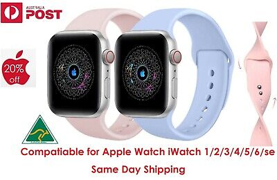 AU6.97 • Buy Compatible For Apple Watch Band Series 6 5 4 3 2 SE 44/42mm And 40/38mm Strap