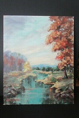 $ CDN151.64 • Buy 20th C. Oil Painting ~ Mill Pond Wantagh Nassau County NY Signed Esther Mortman