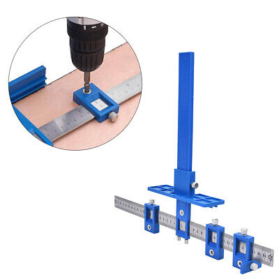 £10.19 • Buy Adjustable Drill Guide Punch Locator Woodworking Hole Cabinet Hardware Jig Tool