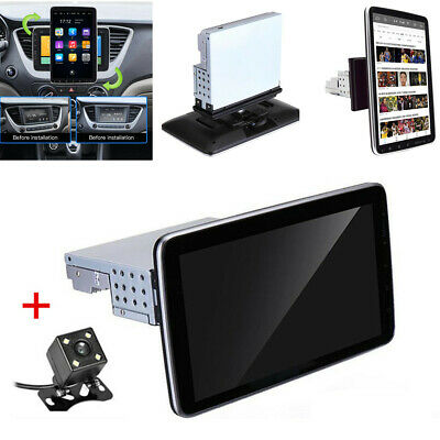 $198.80 • Buy 1DIN Rotatable 10.1'' Android 9.1 Touch Screen Car Stereo Radio GPS Wifi &Camera
