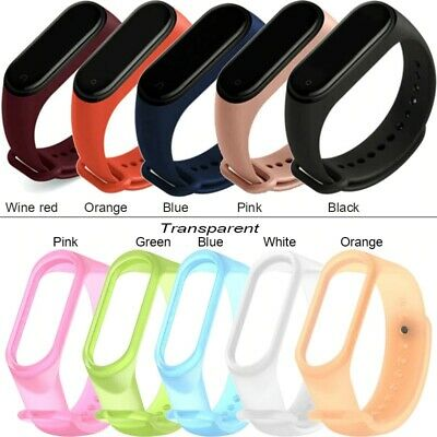 $8.54 • Buy Hot Sale For Xiaomi Mi Band 3 4 Strap Wrist Color Bracelets Silicone Watch Band