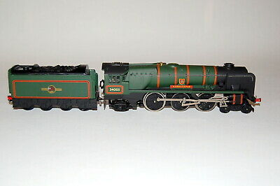 Hornby DUBLO Spur 00, BR 4-6-2 Barnstaple (West Country Klasse), 2-Ltr-GS, Guss. • 108.48£