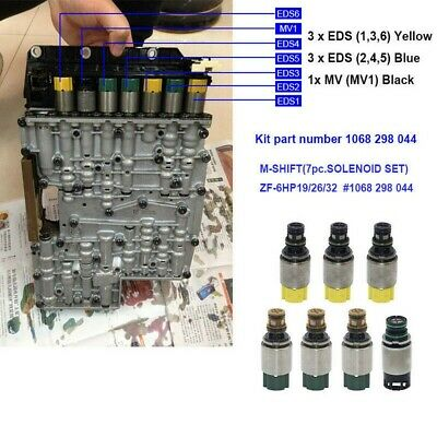 AU150.39 • Buy 7x Automatic Transmission Solenoid ZF6HP26 ZF6HP28 1068298044 For BMW X5 X3 Set