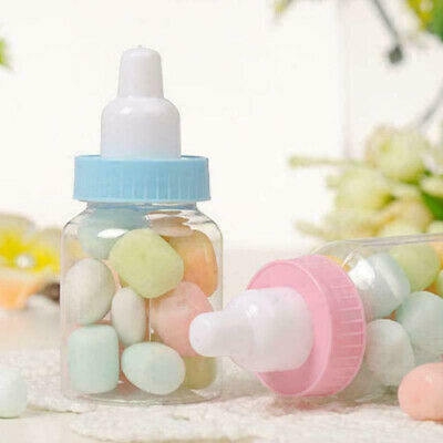 £5.99 • Buy 6/12/24X Fillable Bottles Candy Box Baby Shower Baptism Party Favour Christening