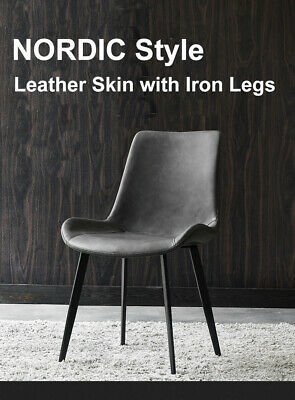 AU550 • Buy Nordic Style Pu Leather With Iron Legs Dining Chairs X4 In One Set   X2 X6 X8