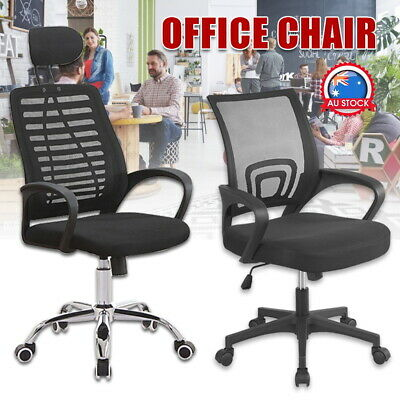 AU36 • Buy Office Chair Gaming Computer Desk Chairs Study Work Home Mesh Recliner Seat