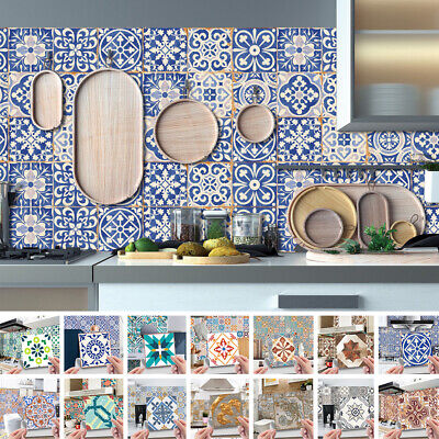 £6.99 • Buy 24Pcs Moroccan Style Tiles Stickers Waterproof Self Adhesive Wall Sticker Set
