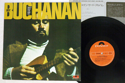 ROY BUCHANAN THAT'S WHAT I AM HERE FOR POLYDOR MP 2368 Japan VINYL LP • 2.91£