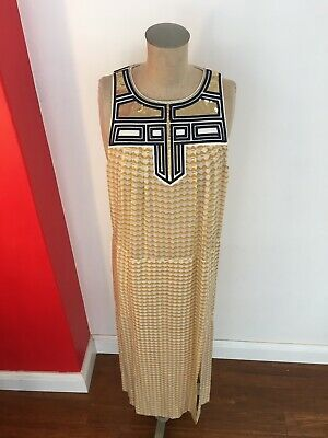 AU79 • Buy Sass & Bide Dress 12-14 Silk Maxi Roman Kleopatra Style Sequins M-L