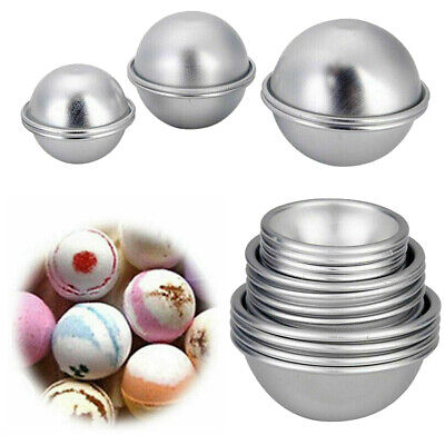 £5.39 • Buy 16pcs DIY Soap Mold Bath Bomb Fizzy Craft Cake Candle Tart Moulds Round Metal