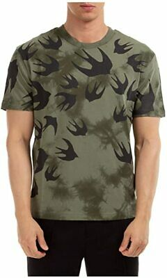 £49.99 • Buy MCQ Alexander McQueen Khaki Swallow T-Shirt 100% Authentic, Brand New And Tagged