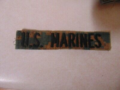 $2.29 • Buy Military Patch Us Name Tape Tag Sew On Marpat Combat Used With Words Us Marines