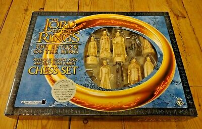 £29.95 • Buy Lord Of The Rings Chess Set - Return Of The King - Bronze And Bone Finish