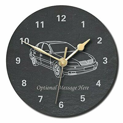 £28.99 • Buy Vauxhall Omega Design Slate Clock - Personalised With Text Of Your Choice (La...