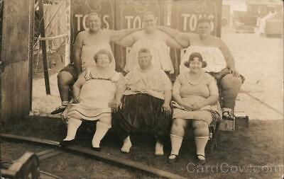 $ CDN48.36 • Buy Circus RPPC The Karn Family Of Fat Folk 2427 Pounds-Six Persons Fat People