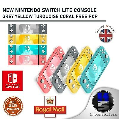 AU341.97 • Buy New Nintendo Switch Lite Console Grey Yellow Turquoise Coral Free P&p