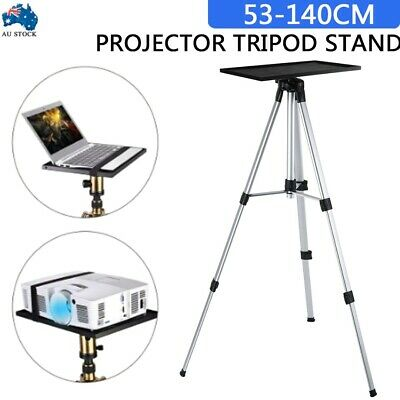 AU41.95 • Buy Projector Tripod Stand Aluminium Adjustable For Laptop 52-140cm Height W/ Tray