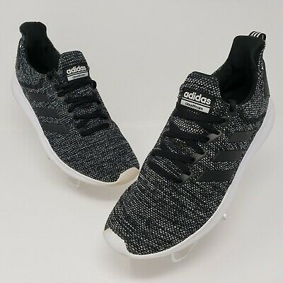 $ CDN47.69 • Buy Adidas Cloudfoam Mens Black White Lightweight Athletic Shoes Size US 9