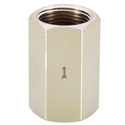 AU12.59 • Buy 1PC Full Brass Check Valve Plating Fuel Air Gas Liquid One Way Non Return Device