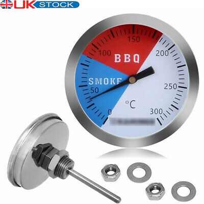 £3.69 • Buy 300℃ 2'' Steel Barbecue BBQ Smoker Grill Thermometer Temperature Gauge
