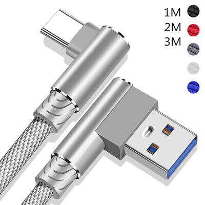 £3.57 • Buy For Samsung Galaxy S20 S21 S10 S9 S8 90° Fast Charge Charger Type C USB-C Cable