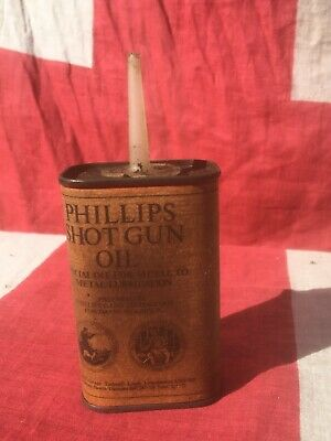 Vintage Style Phillips Shot Gun Oil Can-Advertising Tin-Hunting Louth. • 4.99£
