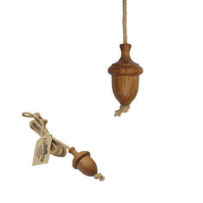 £10.95 • Buy Traditional Turned Wooden Oak Oiled Large Acorn Light Curtain Cord Pull + Rope