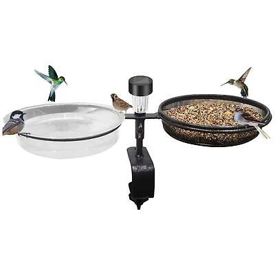 £11.95 • Buy Solar Deck Wild Bird Feeder Water Bath Spa Table Balcony Garden Feeding Station
